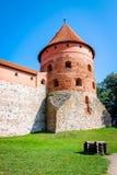 Trakai Castle, Lithuania. Trakai Island Castle in Lithuania right tower Stock Photography