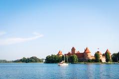 Trakai Castle, Lithuania. Sail on the Galvè lake near Trakai Castle in Lithuania Stock Image
