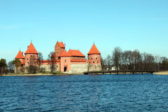 Trakai castle, Lithuania. Situated not far from Vilnius, Trakai is an ancient capital of the Grand Duchy of Lithuania Stock Images