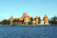 Trakai castle, Lithuania. Situated not far from Vilnius, Trakai is an ancient capital of the Grand Duchy of Lithuania Stock Image