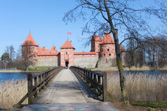 Trakai castle, Lithuania. Situated not far from Vilnius, Trakai is an ancient capital of the Grand Duchy of Lithuania Royalty Free Stock Image
