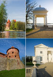 Trakai castle and uzutrakis manor in Lithuania Stock Image