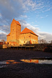 Trakai castle view from inner yard Royalty Free Stock Photography