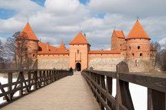 Trakai castle in winter season, Vilnius, Lithuania Royalty Free Stock Image