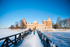 Trakai Castle in winter Stock Photo