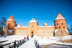 Trakai Castle in winter Royalty Free Stock Photo