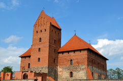 Trakai Castle XIV, XV century architecture Royalty Free Stock Photos