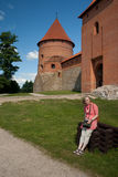 Trakai gate. Tourism in the Trakai castle gate Royalty Free Stock Images
