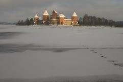 Trakai im Winter Lizenzfreies Stockbild