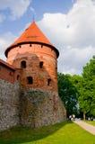 Trakai Insel-Schloss Stockfotografie