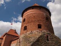 Trakai-Insel-Schloss (Litauen) Stockfotos