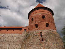 Trakai-Insel-Schloss (Litauen) Lizenzfreies Stockbild