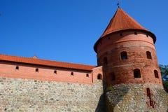 Trakai Insel-Schloss Trakai litauen lizenzfreie stockbilder