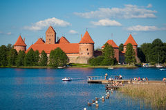 Trakai Island Castle Royalty Free Stock Photos