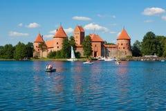 Trakai Island Castle Stock Photo