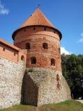 Trakai island castle in Lithuania. Stock Photos