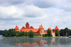 Trakai island castle, Lithuania Royalty Free Stock Image