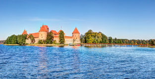 Trakai Island Castle Museum in the early fall time Stock Photo