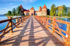 Trakai Island Castle Museum in the early fall time Stock Images
