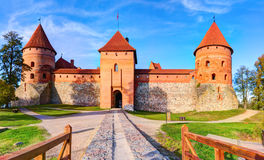 Trakai Island Castle Museum in the early fall time Royalty Free Stock Photo