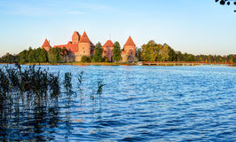 Trakai Island Castle Museum in the early fall time Royalty Free Stock Photography