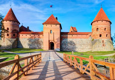 Trakai Island Castle Museum in the early fall time Royalty Free Stock Photos