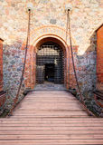 Trakai Island Castle Museum in the early fall time Royalty Free Stock Image