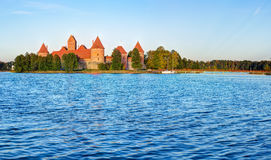 Trakai Island Castle Museum in the early fall time Stock Image