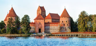 Trakai Island Castle Museum in the early fall time Stock Photos