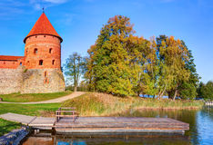 Trakai Island Castle Museum in the early fall time Royalty Free Stock Images