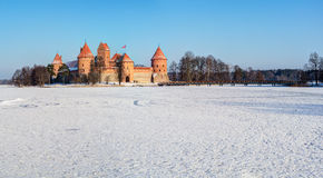 Trakai Island Castle Museum in the winter time. Stock Images