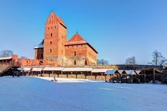 Trakai Island Castle Museum in the winter time. Stock Photo