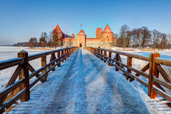 Trakai Island Castle Museum in the winter time. Royalty Free Stock Photos
