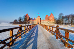Trakai Island Castle Museum in the winter time. Royalty Free Stock Image
