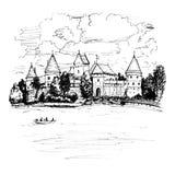 Trakai Island Castle near Vilnius, Lithuania Stock Image