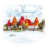 Trakai Island Castle near Vilnius, Lithuania Royalty Free Stock Photography
