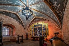 Trakai Island Castle restored Chapel in Lithuania royalty free stock images