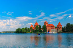 Trakai Island Castle in summer day Royalty Free Stock Photos
