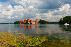 Trakai Island Castle in summer day Stock Photos