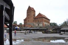 Trakai,Lithuania August 25:Courtyard of Trakai Castle from Island Trakai in Lithuania Stock Photo