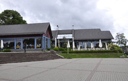 Trakai,Lithuania-august 25:Restaurant in Trakai Royalty Free Stock Photo