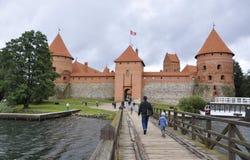 Trakai,Lithuania-August 25:Trakai Castle from island Trakai in Lithuania Stock Photography