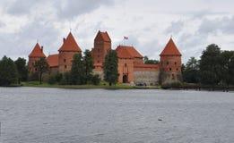 Trakai,Lithuania-August 25:Trakai Castle from Island Trakai in Lithuania Stock Photos