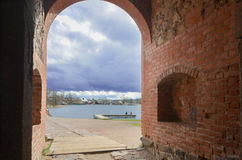 Trakai. Lithuania, Trakai castle, the town view from the castle Stock Images