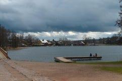 Trakai. Lithuania, Trakai castle, the town view from the castle Royalty Free Stock Photos