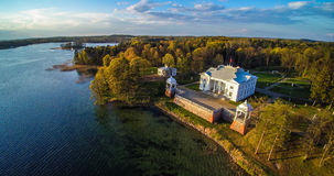 Trakai, Lithuania. Uzutrakis view from above, Lithuania Royalty Free Stock Photos