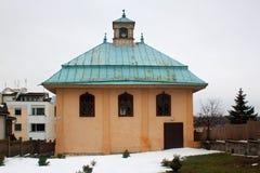 TRAKAI, LITOUWEN - JANUARI 02, 2013: Karaimkenesa in Trakai stock afbeeldingen