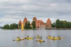 Trakai, Litouwen Zomer-2013 Stock Foto