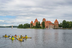 Trakai, Litouwen Zomer-2013 Stock Afbeelding