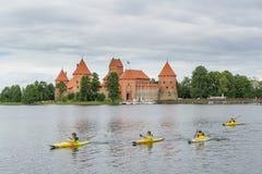 Trakai, Litouwen Zomer-2013 Stock Foto's